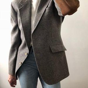 VINTAGE/ wool riding blazer overcoat